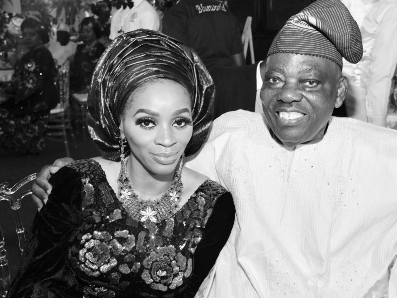 Mrs Shade Okoya and her husband, Chief Rasaq Okoya – 2018