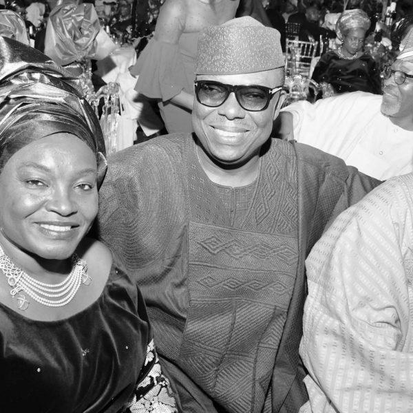 Mrs Funke Osibodu, Left, her husband Gbolly Osibodu and Shola Adeeko.